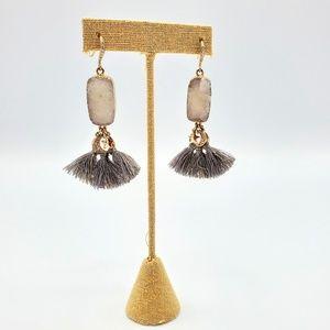 Chloe + Isabel Jewelry - Druzy Tassel Celestial Earrings